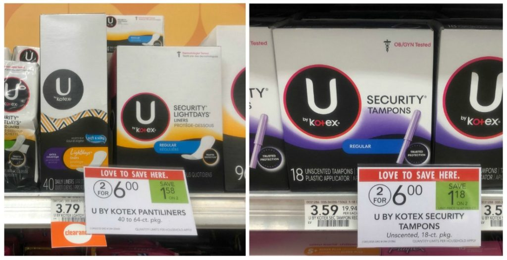 U by Kotex Products As Low As $1 At Publix on I Heart Publix
