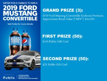 New Sweepstakes For Publix Shoppers - Enter To Win A 2019 Ford Mustang Convertible on I Heart Publix 1