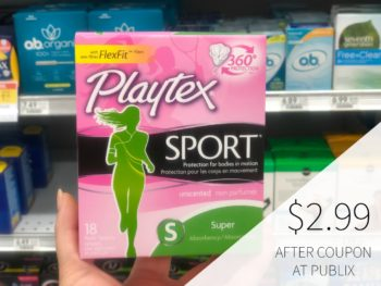 New Feminine Care Coupons - Save On Stayfree & Playtex Products on I Heart Publix 1
