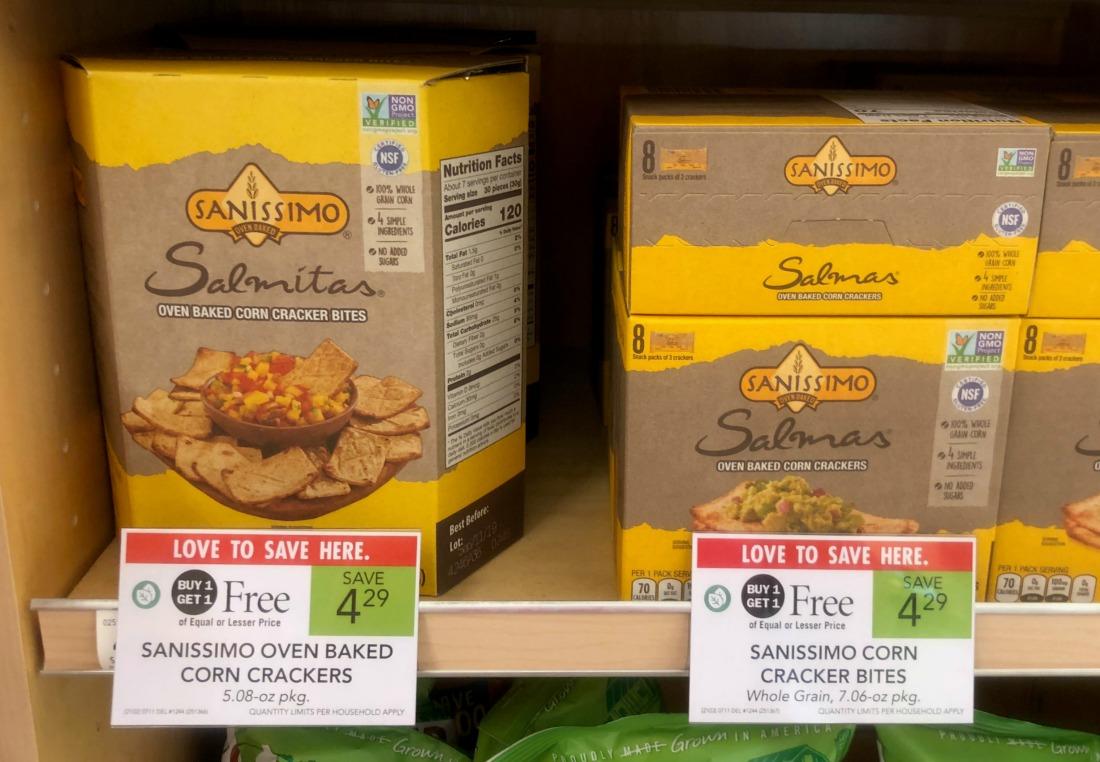 Sanissimo Oven Baked Corn Crackers or Bites on I Heart Publix