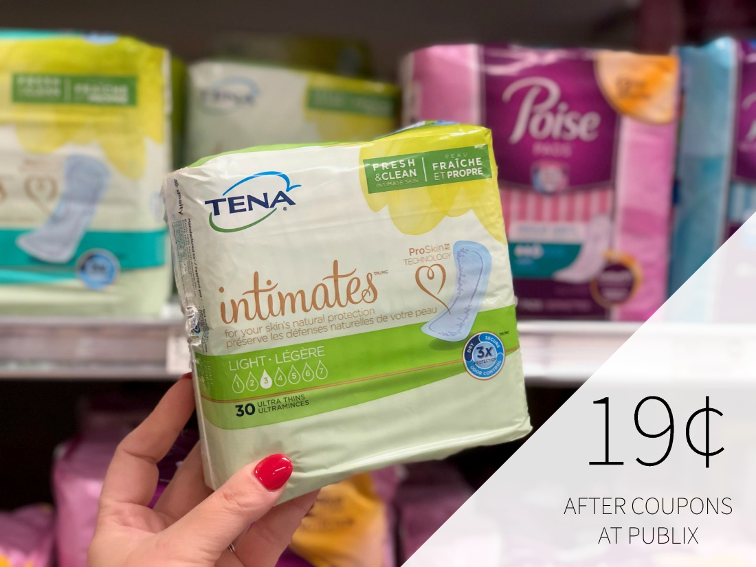 Tena Pads Only 19¢ At Publix on I Heart Publix 1