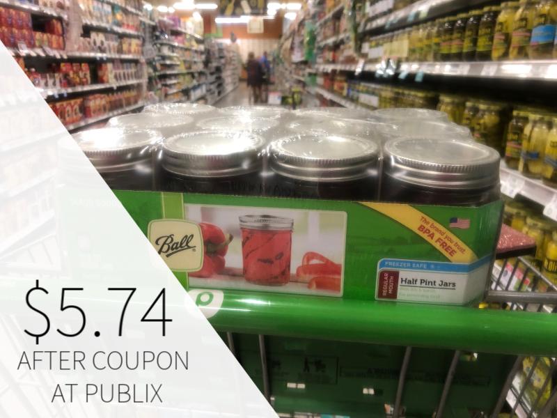 Ball Mason Jars Only $5.74 At Publix on I Heart Publix 1