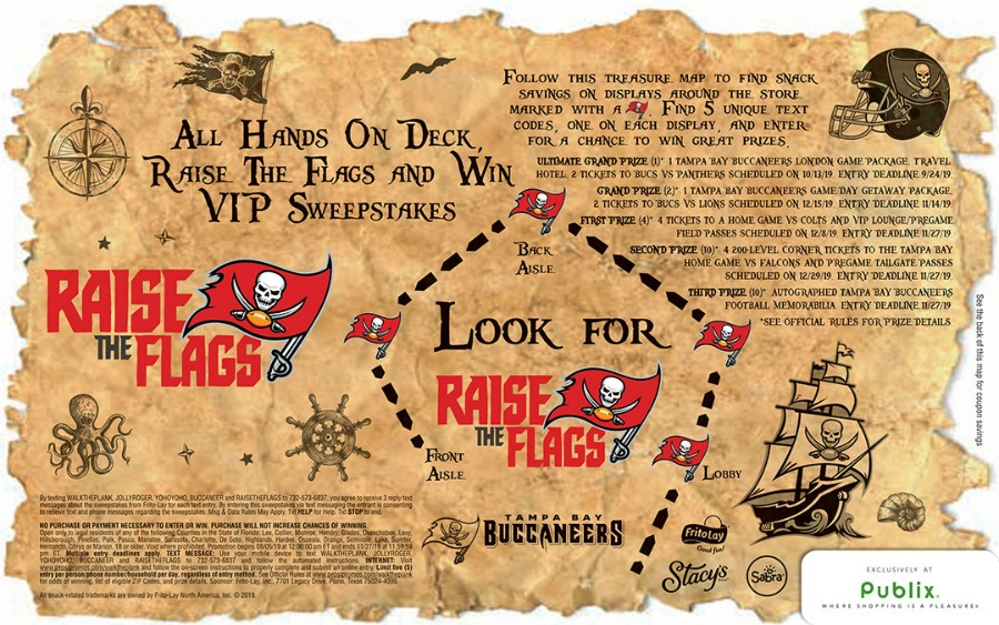 Tampa Bay Area Publix Shoppers - Bucs Sweepstakes! on I Heart Publix 1