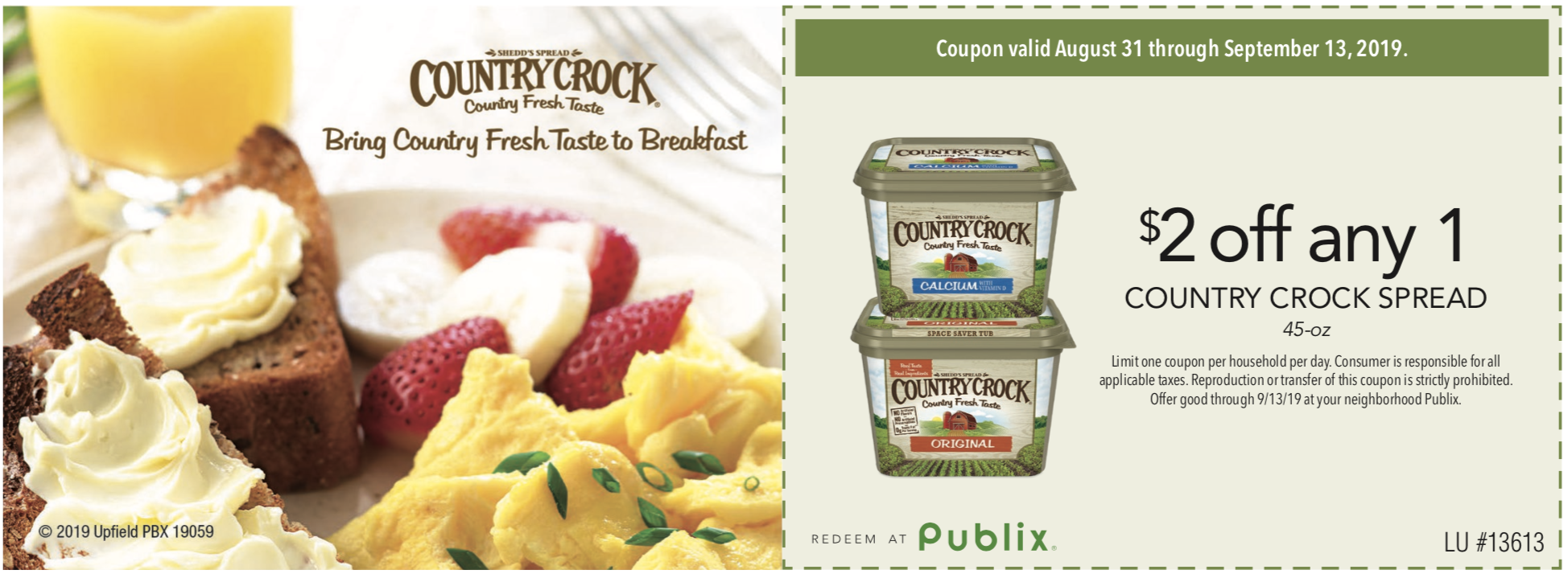Big Tub Of Country Crock Spread Just $1.99 At Publix - Less Than Half Price! on I Heart Publix