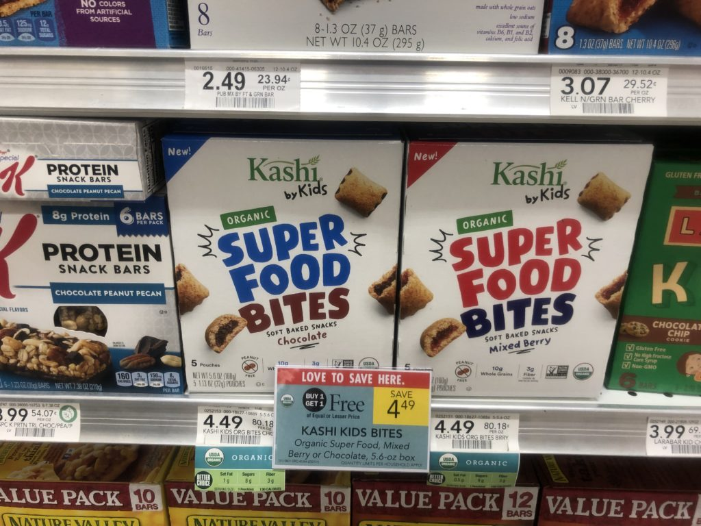 Kashi By Kids Snack Bites As Low As $1.25 on I Heart Publix