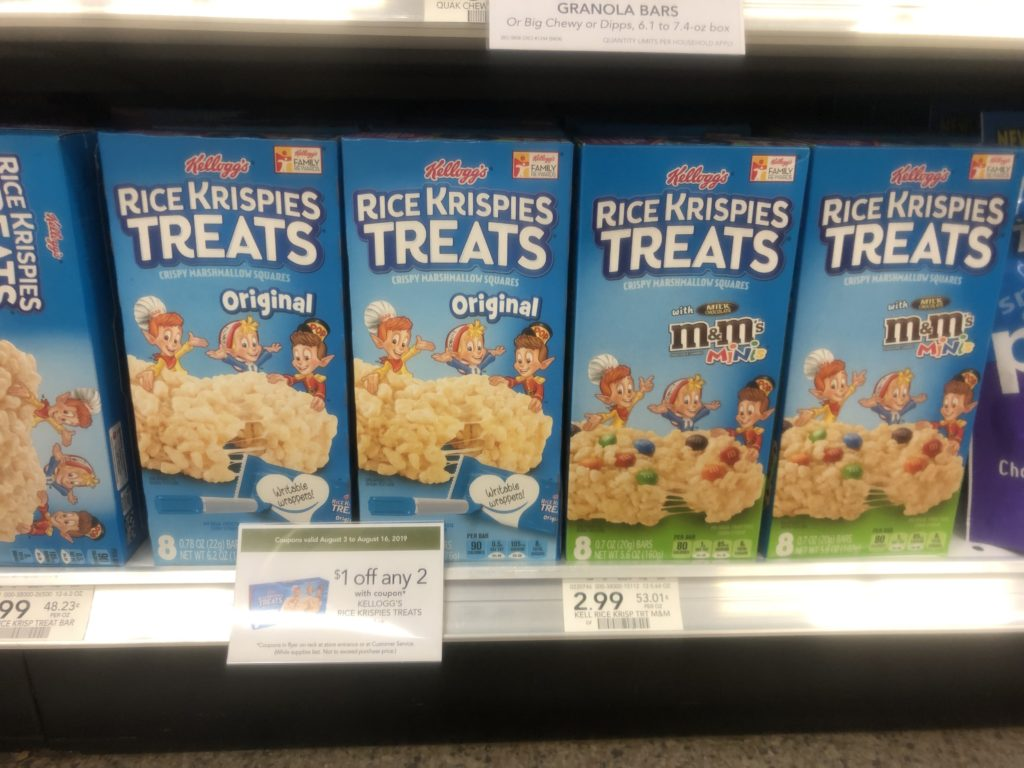 Kellogg's Rice Krispies Treats on I Heart Publix