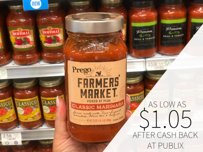 Prego Farmers' Market Sauce As Low As $ on I Heart Publix 1