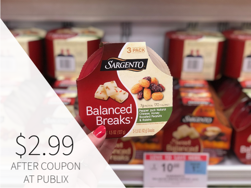 New Sargento Balanced Breaks Snack - Just $ on I Heart Publix 1