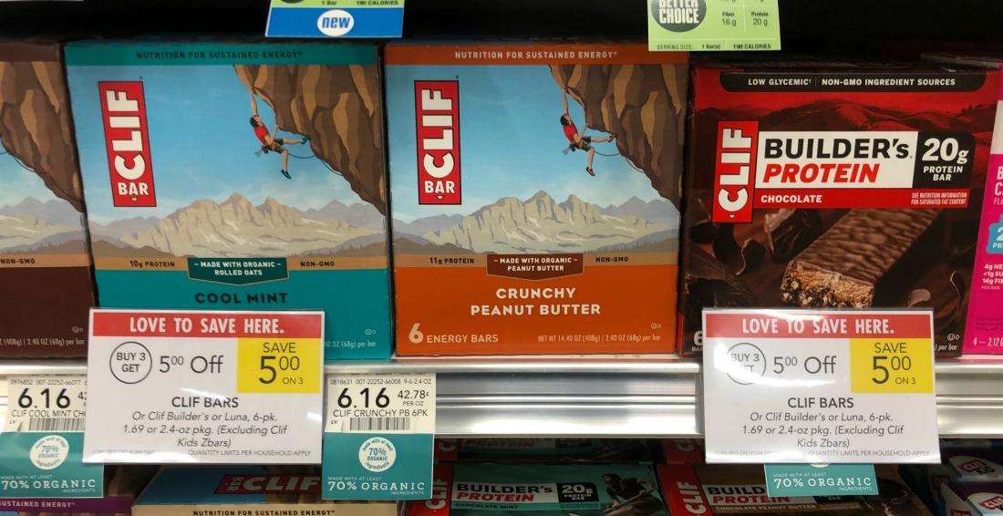 Clif Bars Just $3.49 Per Box At Publix (58¢ Per Bar) on I Heart Publix