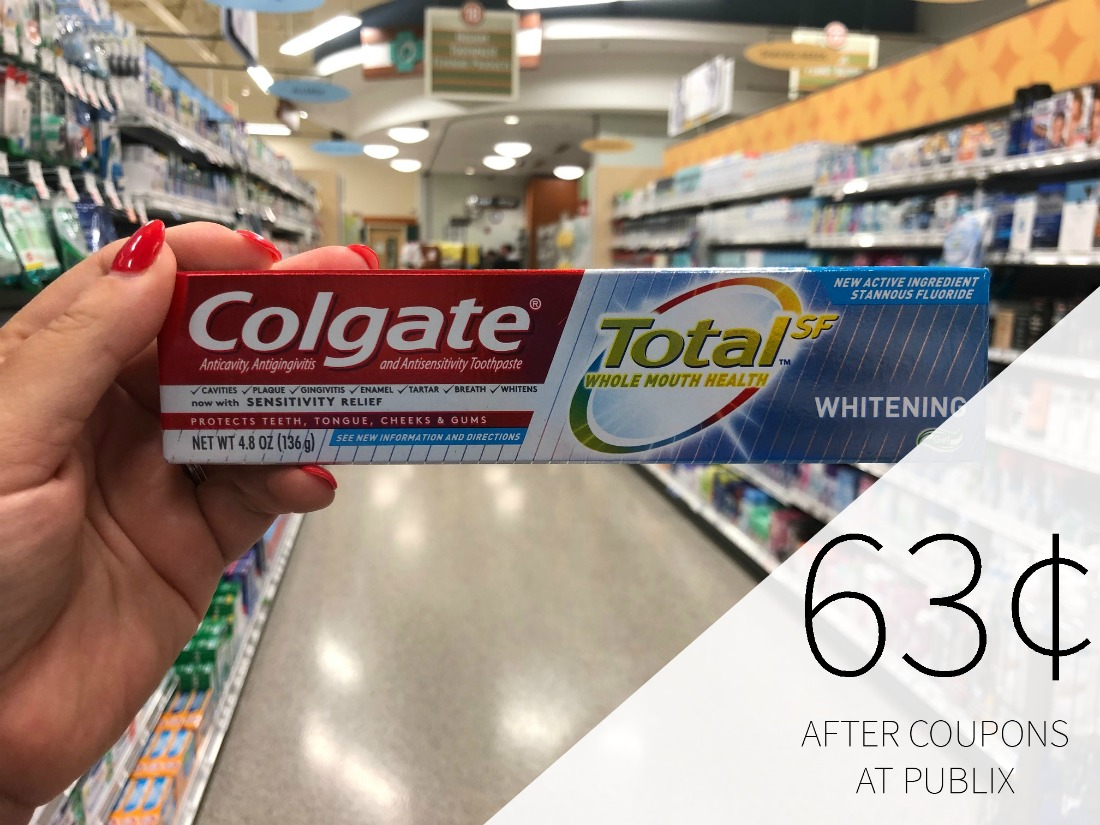 Colgate Total Toothpaste As Low As 63¢ At Publix on I Heart Publix 1