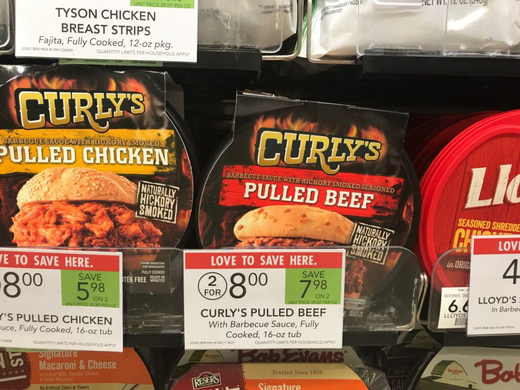 Curly's Pulled Beef, Pork Or Chicken on I Heart Publix