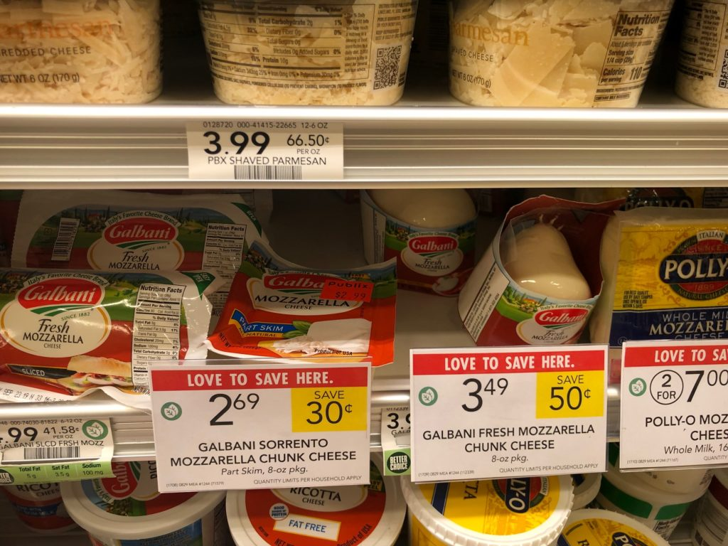 Galbani Cheese As Low As $1.19 At Publix on I Heart Publix