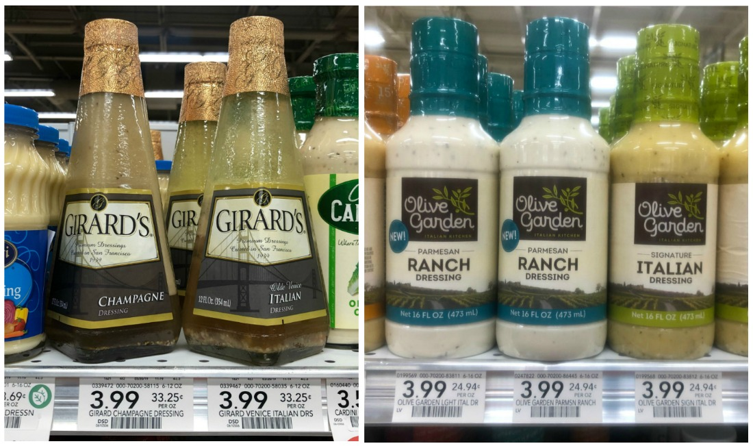 Girard's Salad Dressing As Low As $1.99 At Publix - Half Price (Plus Olive Garden Dressing Coupon) on I Heart Publix