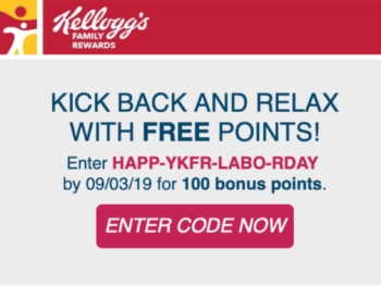 New Kellogg's Family Rewards Code - Add 100 Points To Your Account on I Heart Publix 4