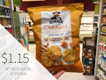 Quaker Popped Rice Snacks Just $1.15 At Publix on I Heart Publix
