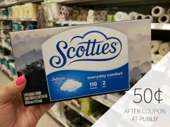 Scotties Facial Tissues Only 50¢ At Publix on I Heart Publix