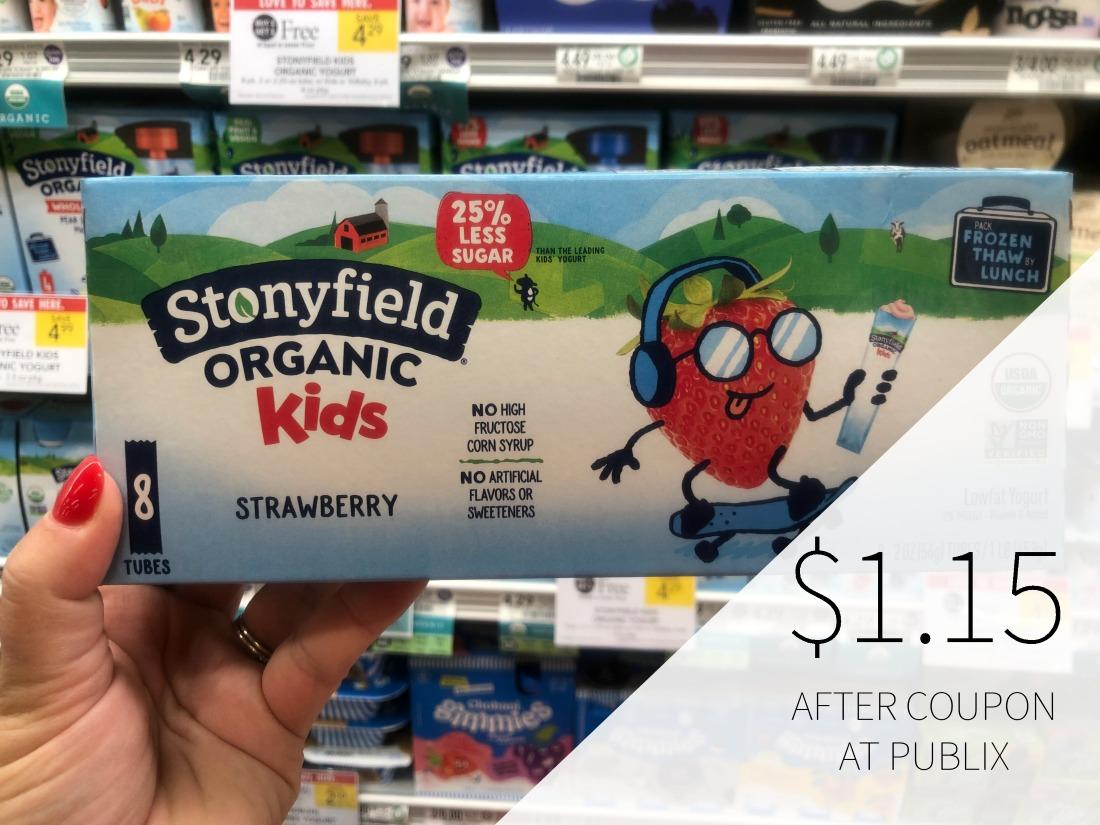 New Stonyfield Kids Organic Yogurt Coupon For Publix BOGO - Just $1.15 on I Heart Publix 1