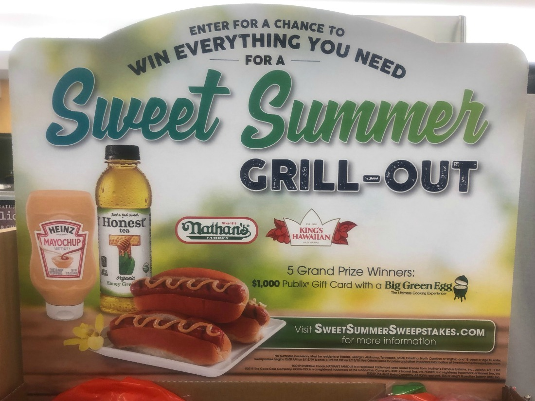 Enter the Sweet Summer Sweepstakes For A Chance To Win A Green Egg Grill & $1000 Publix Gift Card on I Heart Publix 1