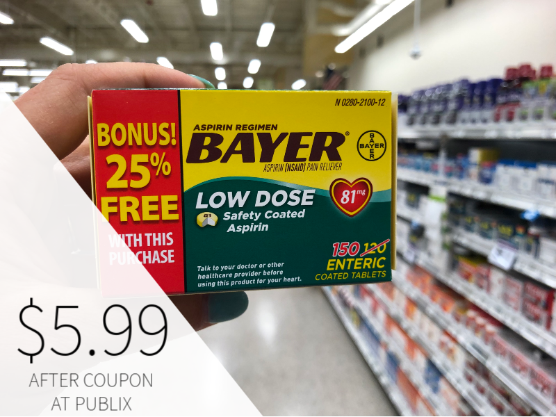 New Bayer Aspirin Coupon - Only $5.99 At Publix on I Heart Publix 1