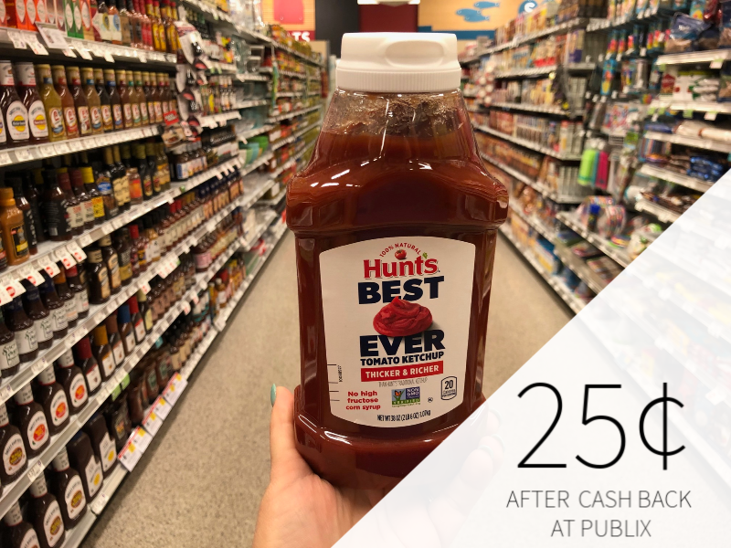 Hunt's Best Ever Tomato Ketchup Only $ on I Heart Publix