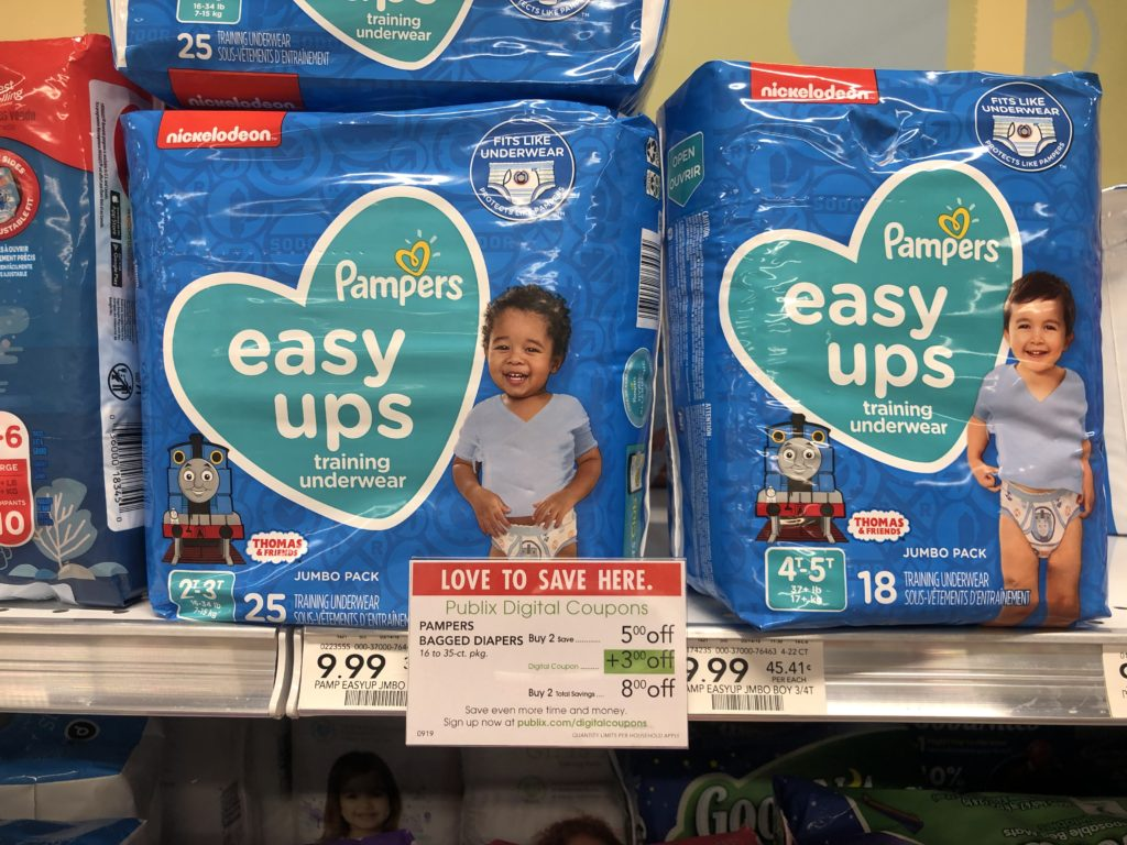 Pampers Easy-Ups Training Pants Only $5.99 At Publix