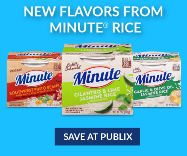 Minute banner on I Heart Publix