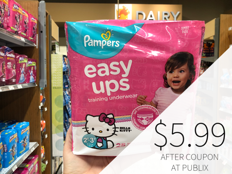 Pampers Easy-Ups Training Pants Only $5.99 At Publix on I Heart Publix