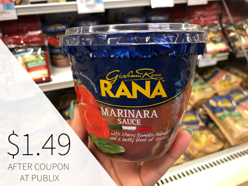New Giovanni Rana Pasta Sauce Coupon For The Publix Sale
