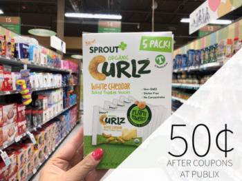Sprout Curlz Snacks Just 50¢ At Publix on I Heart Publix