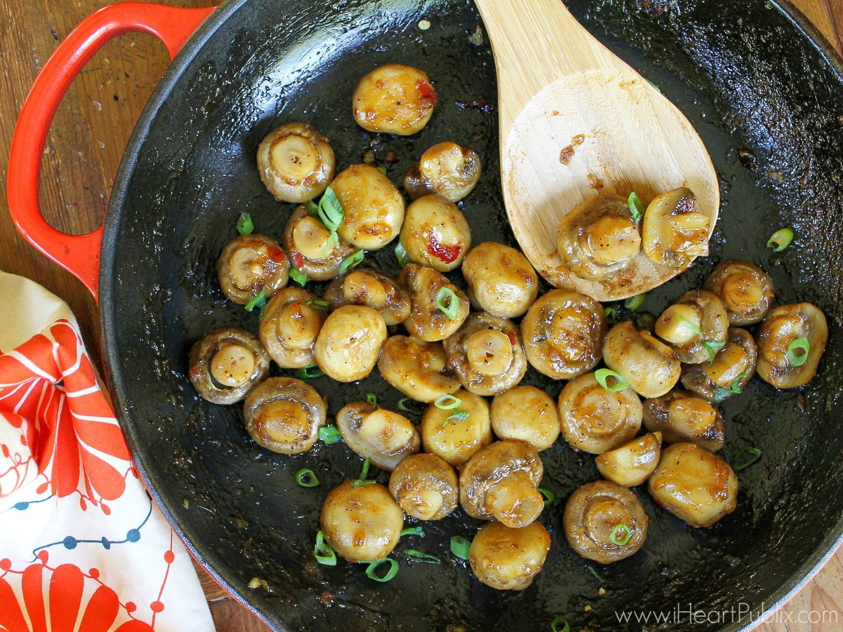 Sweet Chili Glazed Mushrooms - Delicious Recipe For The I Can't Believe It's Not Butter! BOGO Sale on I Heart Publix 1