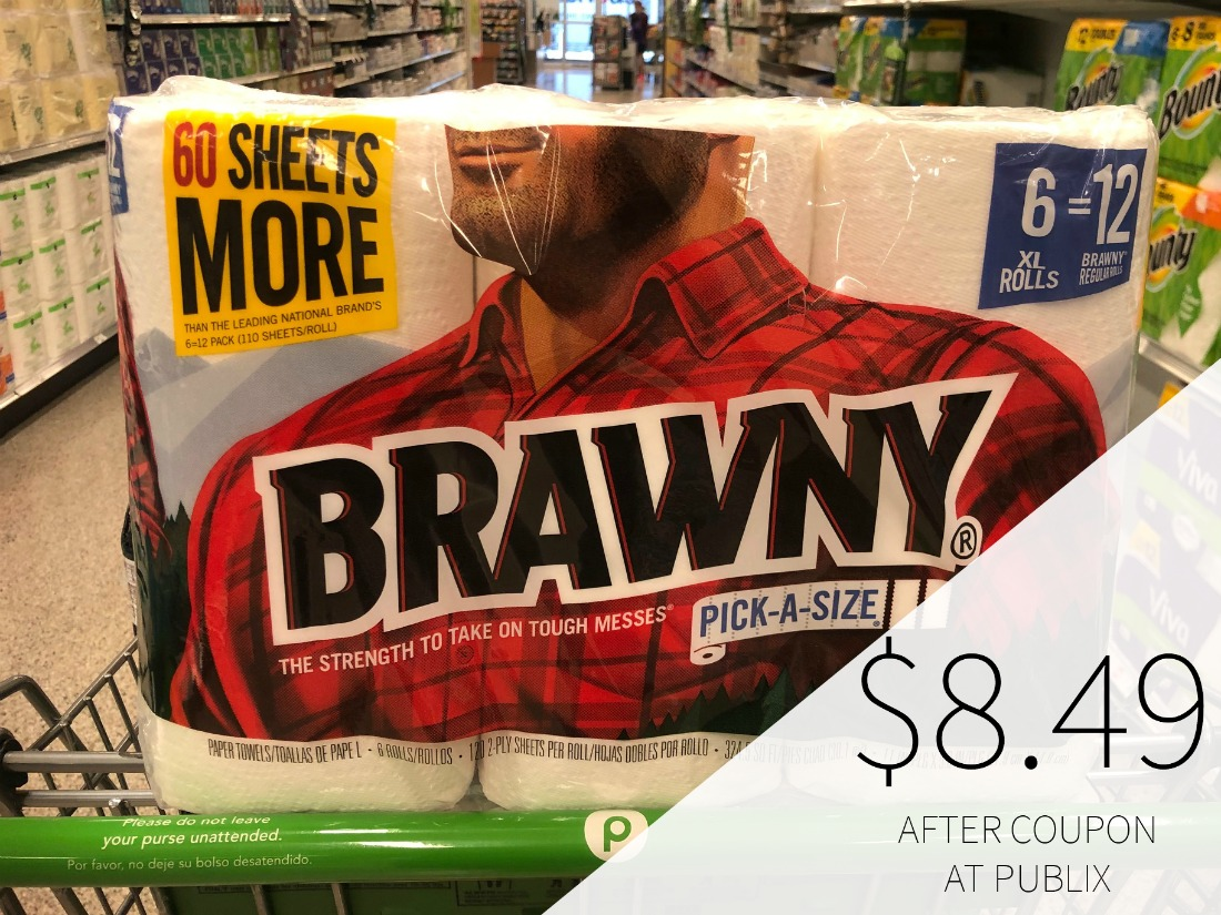 Brawny Paper Towels Only $8.49 At Publix (Almost Half Price) on I Heart Publix 1