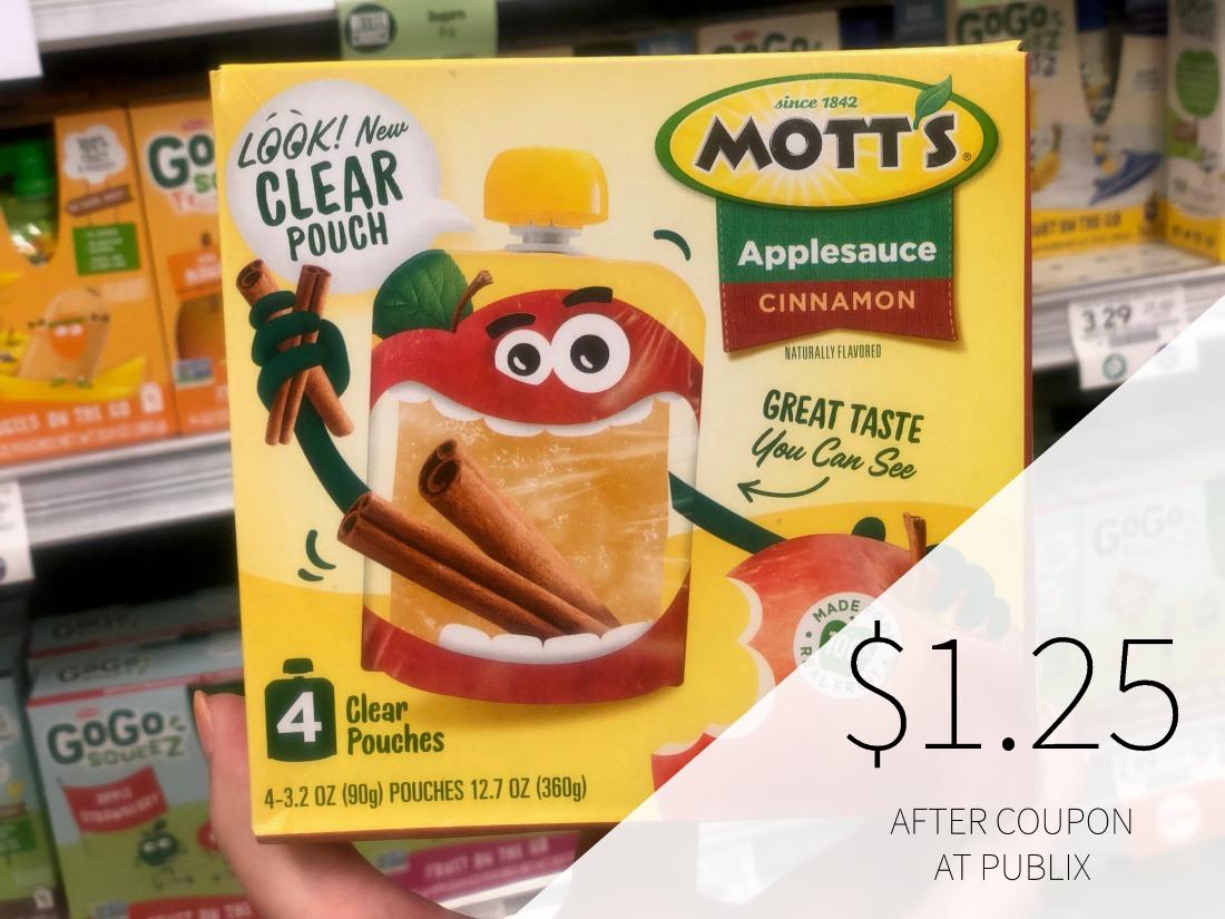 Mott's Applesauce 4-Pack As Low As $1.25 At Publix on I Heart Publix 1
