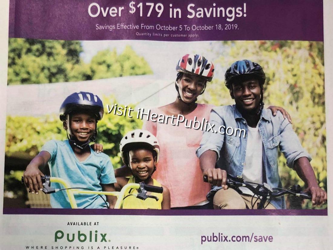 Publix H&B Flyer, 10/5 to 10/8 on I Heart Publix