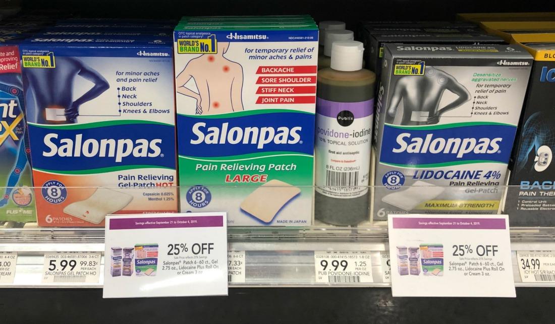 New Salonpas Coupon For The Publix Sale - Pain Relief Patches As Low As $3.24 on I Heart Publix
