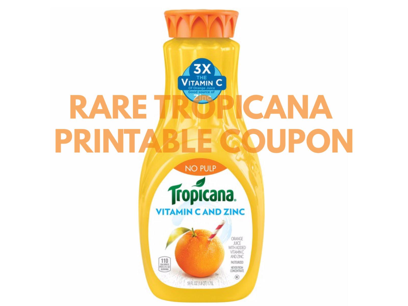 New Tropicana Orange Juice Coupon To Print on I Heart Publix