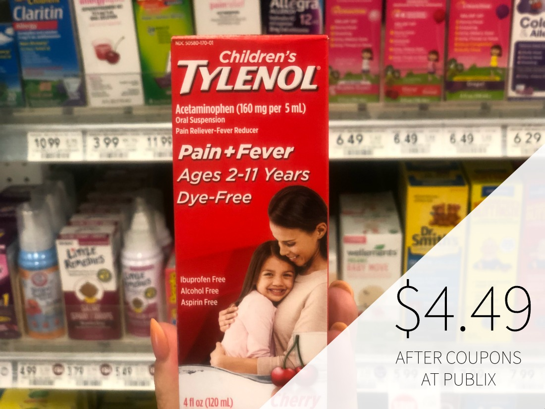 Children's Tylenol or Motrin Just $4.49 At Publix (Save $3) on I Heart Publix 1