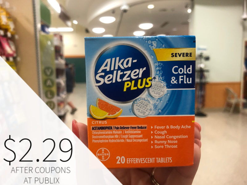 Alka-Seltzer Plus $2.29 At Publix on I Heart Publix 1
