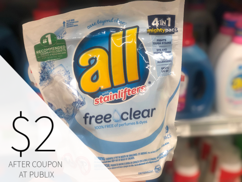 All Laundry Detergent Only $ on I Heart Publix 2