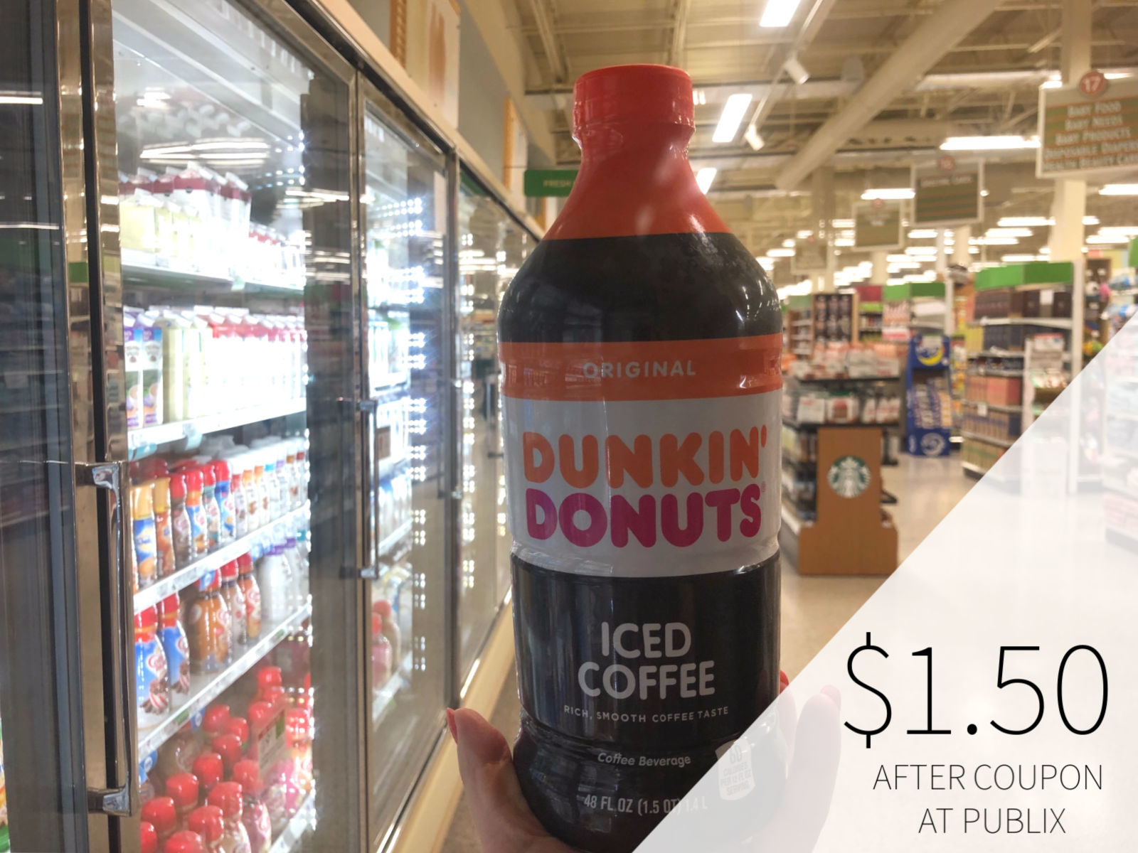 Dunkin Donuts Iced Coffee Big Bottle Just 1 50 At Publix