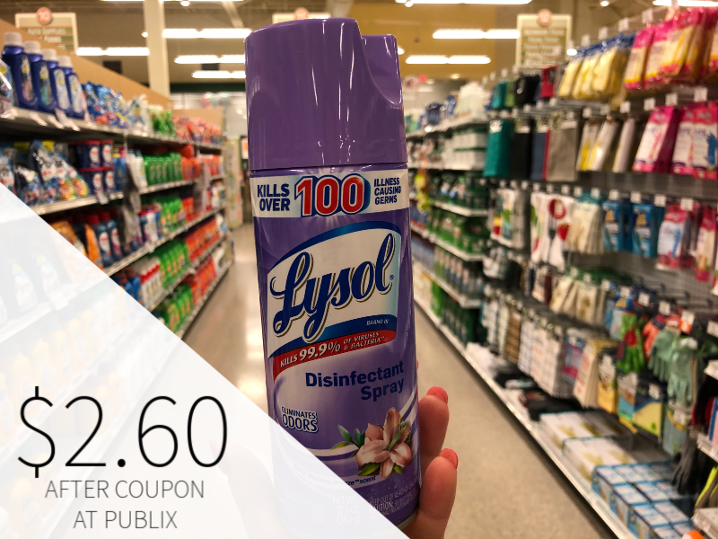 Lysol Disinfectant Spray Only $ on I Heart Publix 1