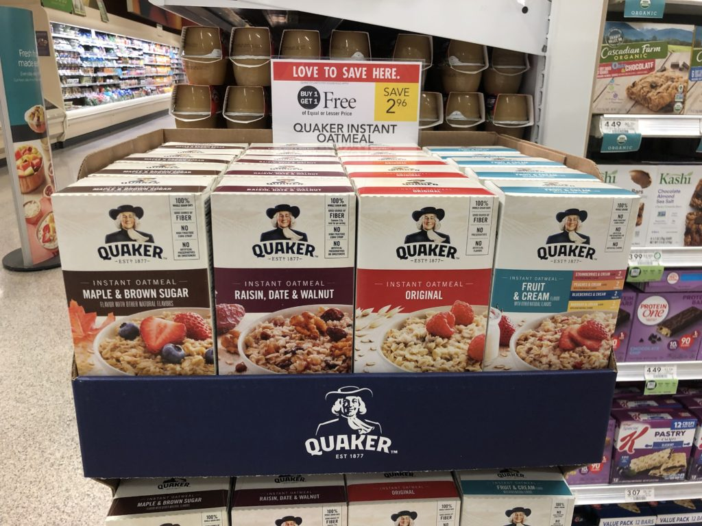 Quaker Instant Oatmeal on I Heart Publix
