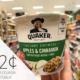 Quaker Oatmeal Cups Just 72¢ At Publix on I Heart Publix
