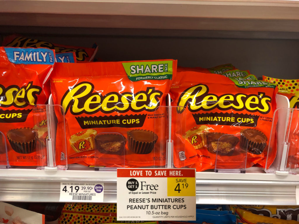 Bags Of Reese's Peanut Butter Cups Only $ on I Heart Publix