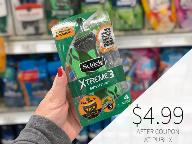 Schick Razors As Low As $4.99 At Publix on I Heart Publix