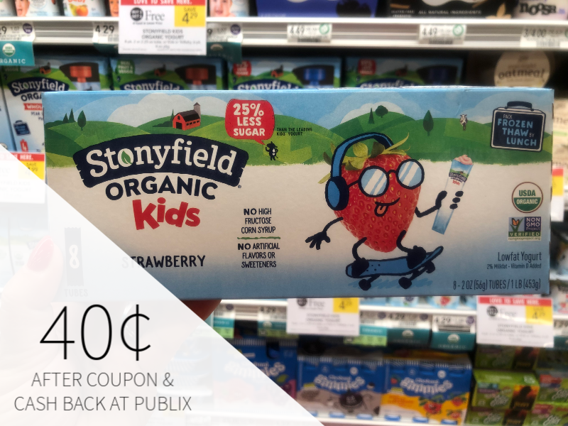 Stonyfield Kids Only 40¢ At Publix on I Heart Publix