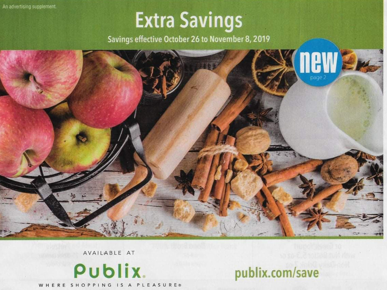 """Publix Grocery Advantage Buy Flyer – """"Extra Savings"""" Valid 10/26 to 11/8 on I Heart Publix"""