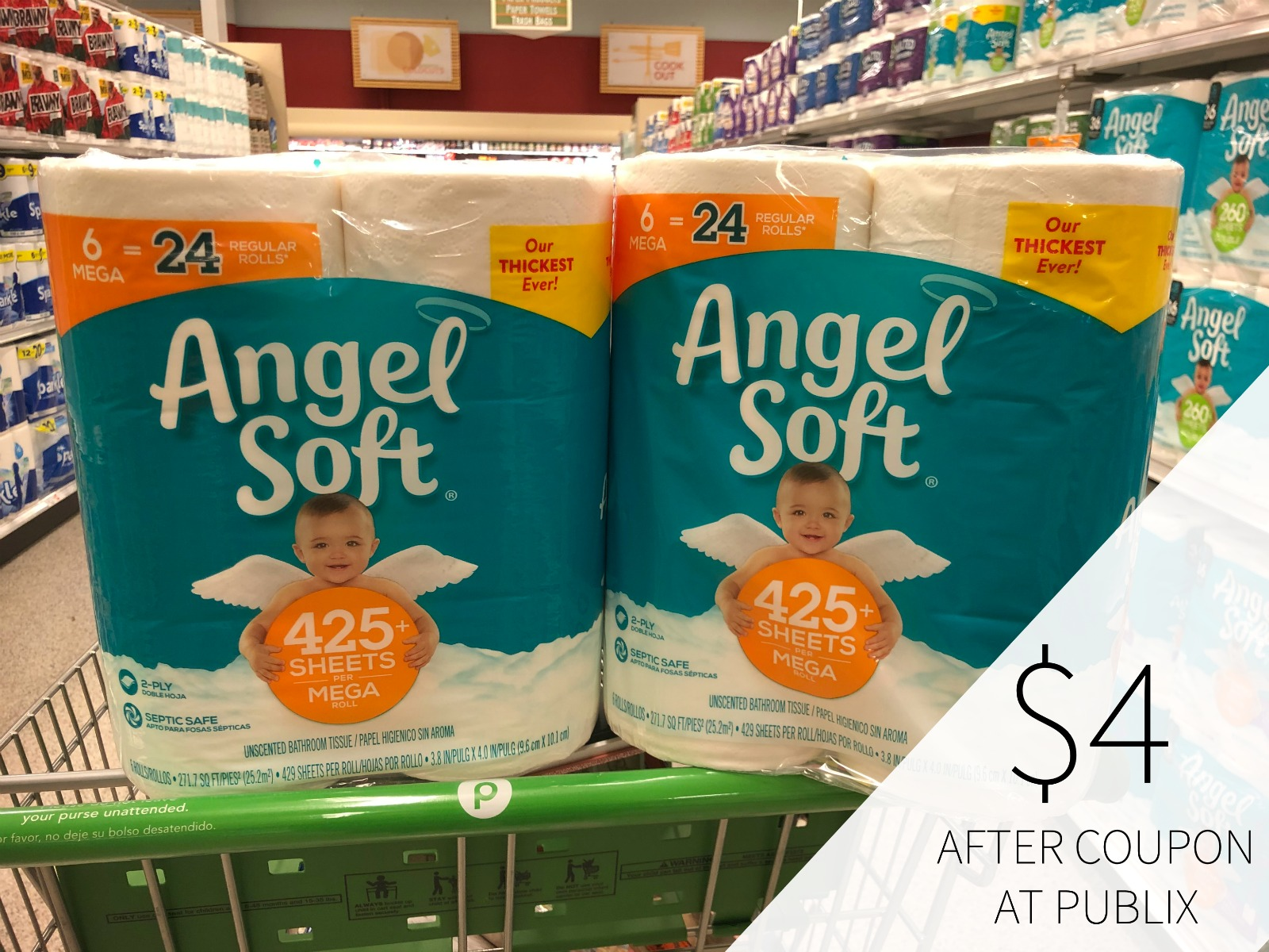 Can't Miss Deals On Angel Soft Toilet Paper At Publix on I Heart Publix