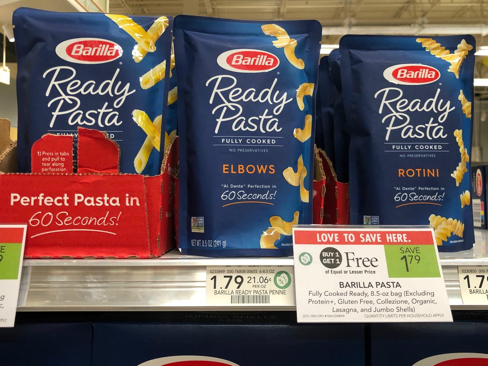FREE Barilla Ready Pasta At Publix (& Cheap Blue Box Pasta) on I Heart Publix