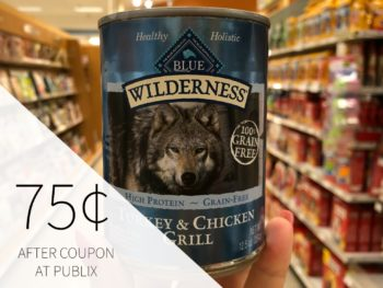 Blue Wilderness Dog Food Just 12¢ Per Can At Publix on I Heart Publix 1