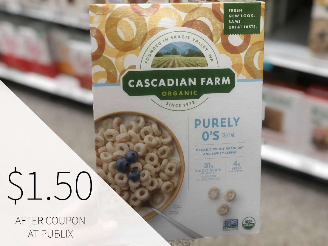 Cascadian Farm Organic Cereal Just $1.50 (Plus Cheap Granola Bars) on I Heart Publix 1